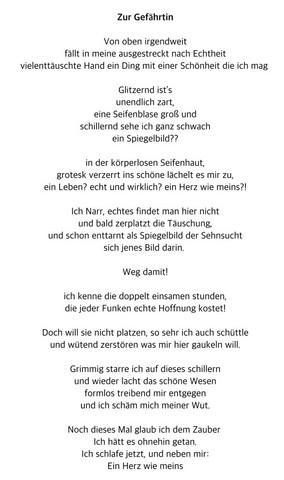 Gedicht: Bekanntschaft
