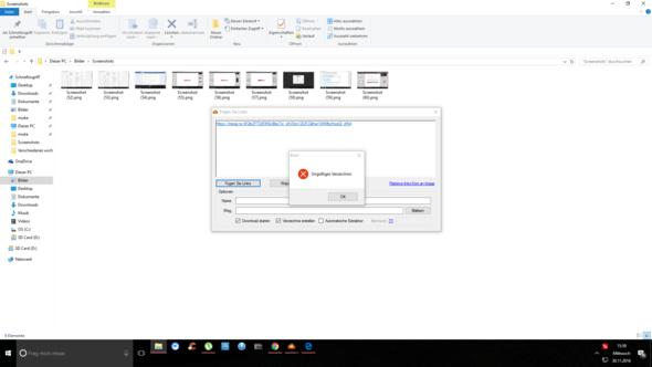 Das passiert wenn ich den Link einfügen will bei (MegaDownloader) - (PC-Spiele, Download, PC-Games)