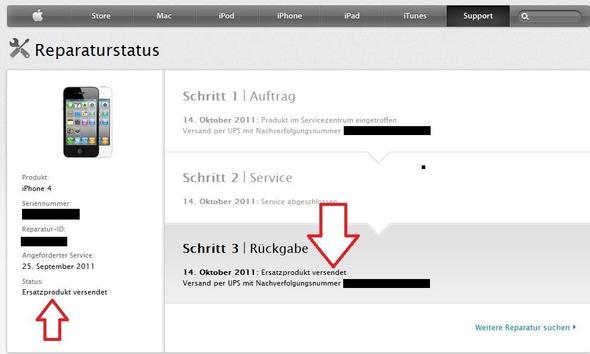Apple Reperaturstatus - (Handy, iPhone, Reparatur)