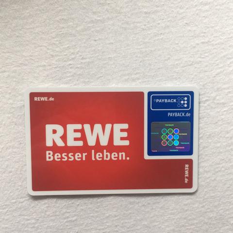 rewe karte Hab mir eine payback Karte online bestellt und sie hat vorne Rewe