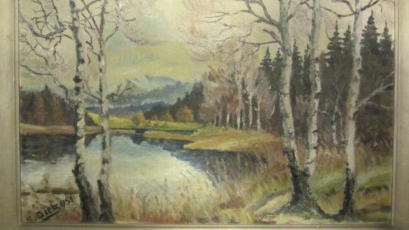 Vordeseite E. Dietz - (Kunst, Maler, Gemälde)