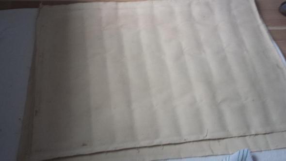 Rückseite Falten durch einrollen - (Ölgemälde, falten-entfernen, Ölgemälde Falten)