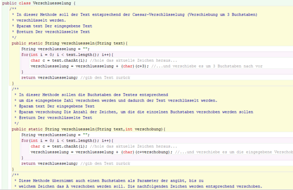Teil 1 der ersten Klasse - (programmieren, Java)