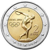 Griechenland 2 Euro Münze - (Griechenland, Münze)