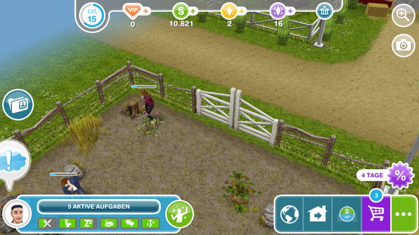 Tor ist schon offen - (quest, Sims Freeplay)