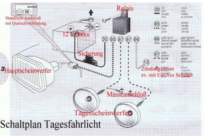 Groß Fahrlicht Relais Verkabelung Fotos - Der Schaltplan - greigo.com