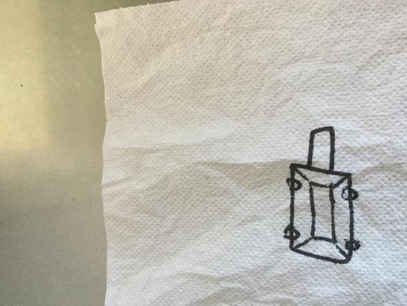 Zeichnung - (Garten, schubkarre)