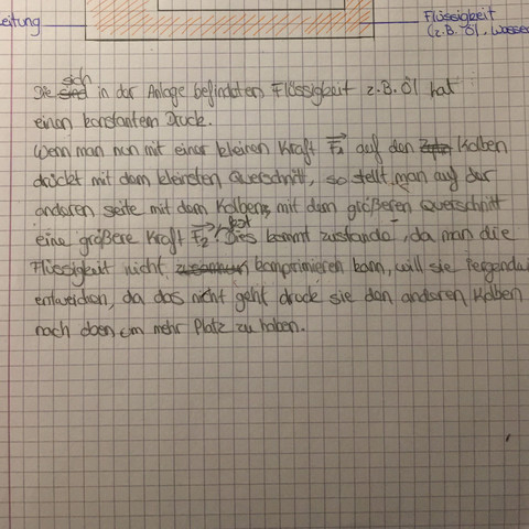 Hydraulische presse erklären  - (Physik, Blaise Pascal, hydraulische Presse)