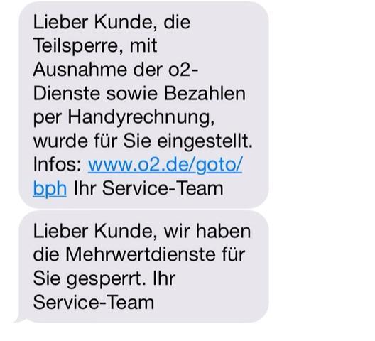 Die SMSs - (Handy, Kosten, drittanbietersperre)