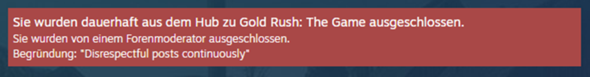 Habe ich in Steam eine Möglichkeit nach einem Ausschluss wieder in einen Hub eingeschlossen zu werden?