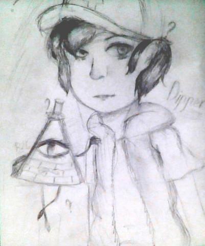 Dipper und Bill. - (malen, Zeichnung, Verbesserung)