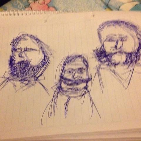 Übersicht leicht abstrakt Portrait - (Kunst, Philosophie, zeichnen)