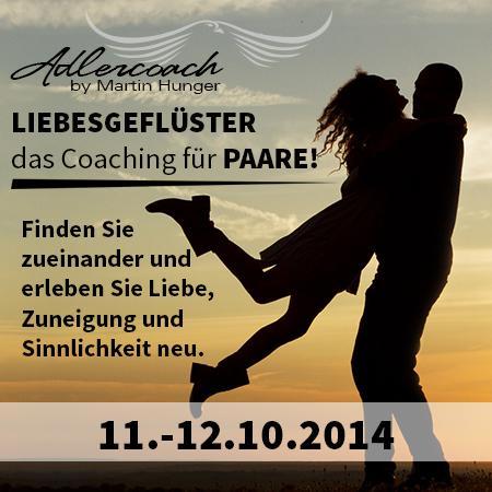 LIEBESGEFLÜSTER das Coaching für Paare - (Liebe, Wochenende, seminar)