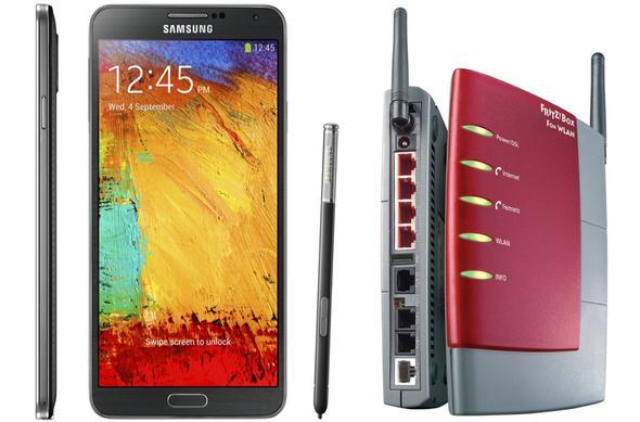 Samsung Galaxy Note 3 + Fritz!Box - (Computer, PC, Internet)