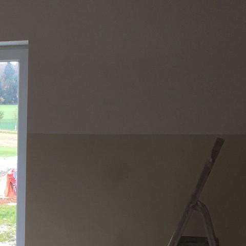 Hier Sieht Man Die Zwei Farben   (Zimmer, Malen, Wandgestaltung)