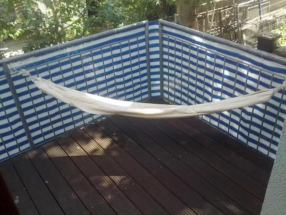 h ngematte an balkon welche haken befestigen karabiner karabinerhaken. Black Bedroom Furniture Sets. Home Design Ideas