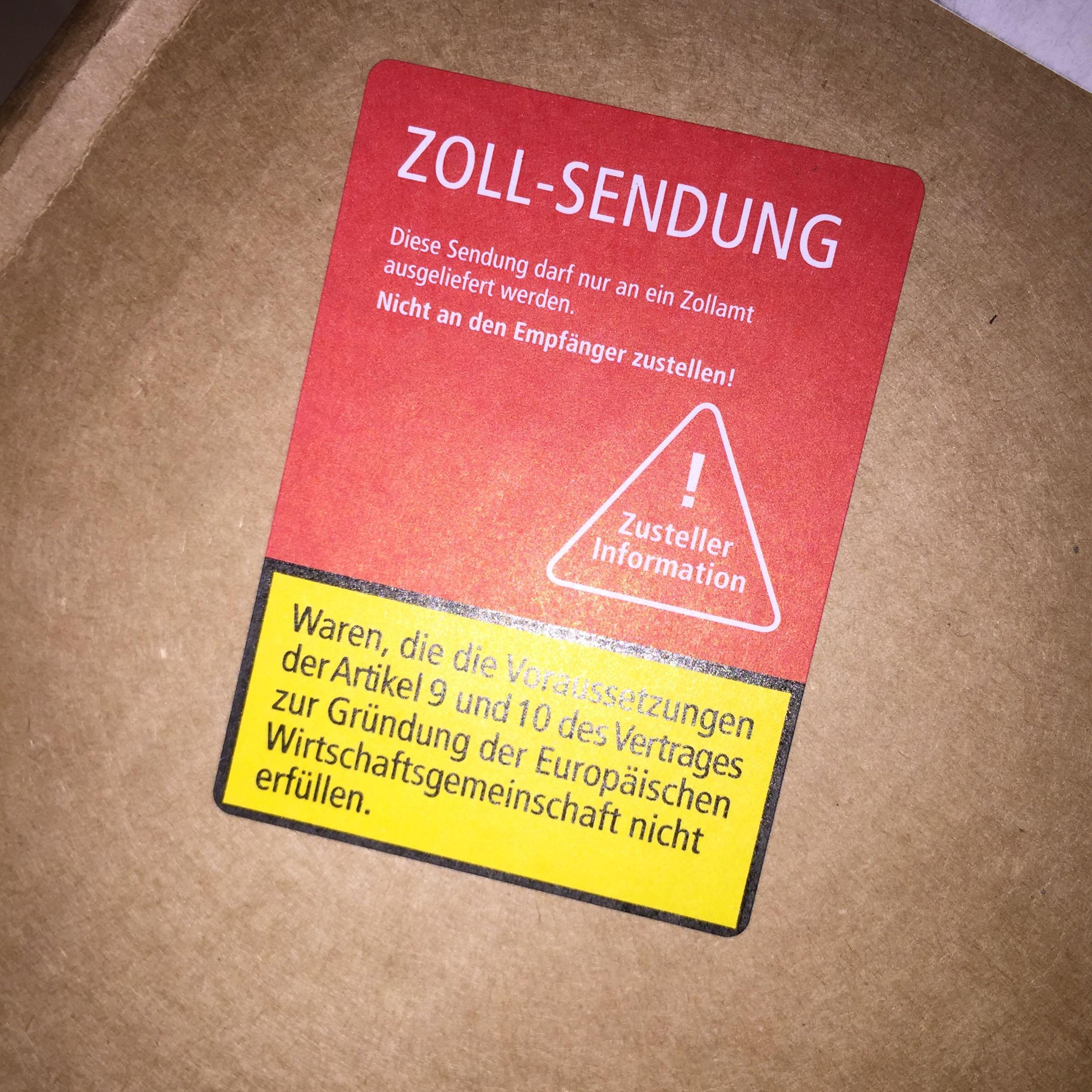 Paket Beim Zoll