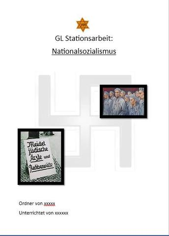 Hakenkreuz Auf Deckblatt In Der Schule Thema Ns Zeit Recht