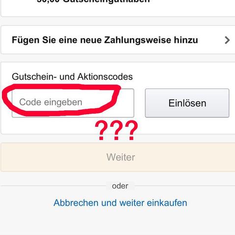 Welchen Code ?? - (online, Amazon, Shopping)