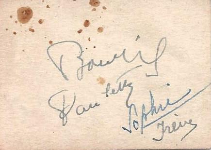 Bourvil - (Film, Frankreich, Autogramm)