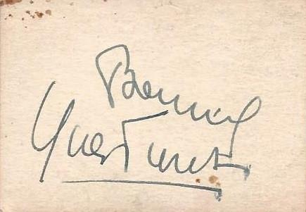 Bourvil 2 - (Film, Frankreich, Autogramm)