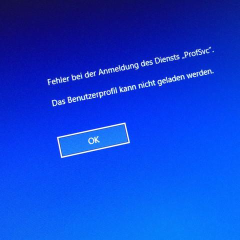 Hier die Fehlermeldung ! - (Computer, PC, Windows)