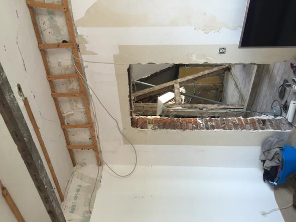 Die Wand und Decke  - (Handwerk, renovierung, Sanierung)
