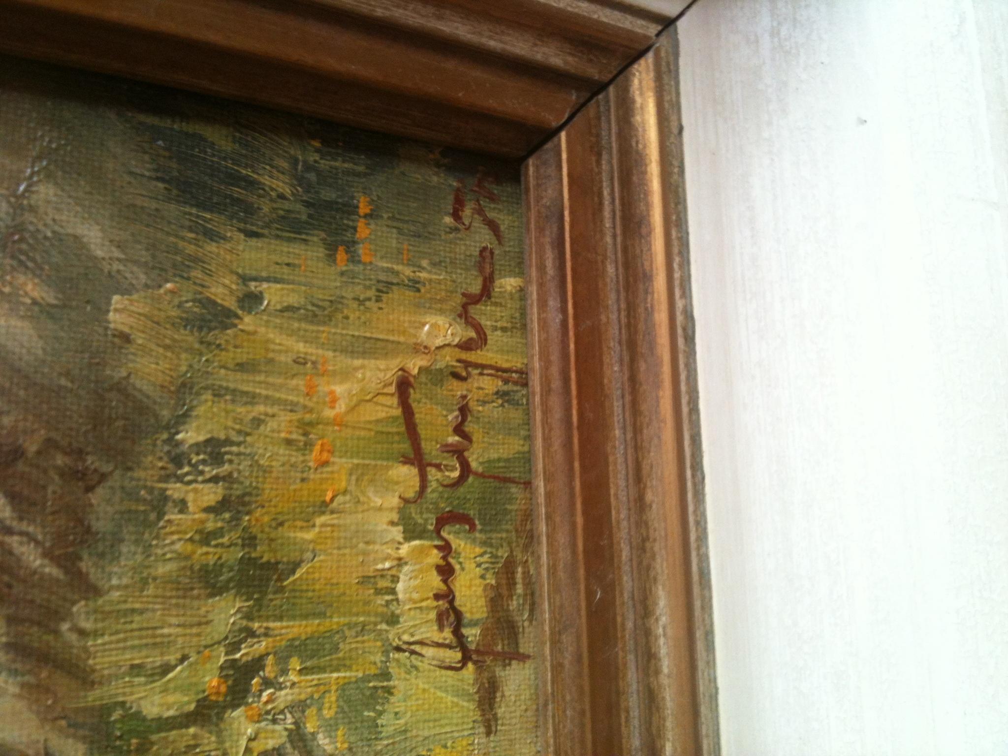 kennt vielleicht einer die signatur von dem maler kunst. Black Bedroom Furniture Sets. Home Design Ideas