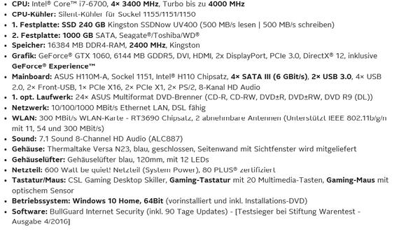 PC Daten - (PC, Internet, Games)