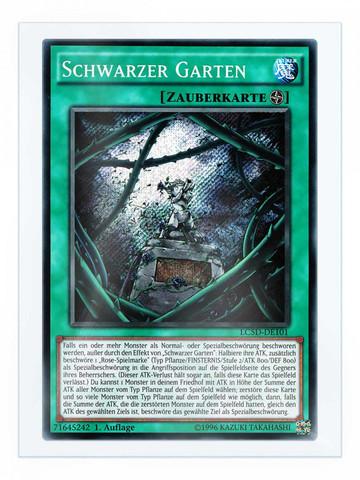 """Der Spielfeldzauber """"Schwarzer Garten"""" - (Yu-gi-oh, Tribute, TradingCardGame)"""
