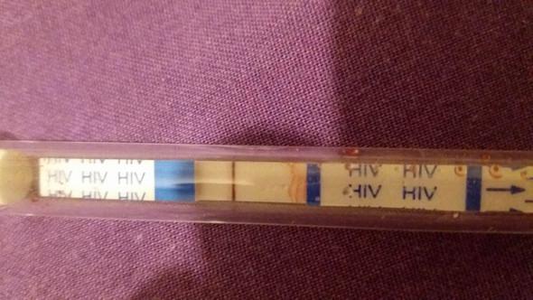 Selbsttest Streifen - (HIV, Lymphknotenschwellung, Weißer Zungenbelag)