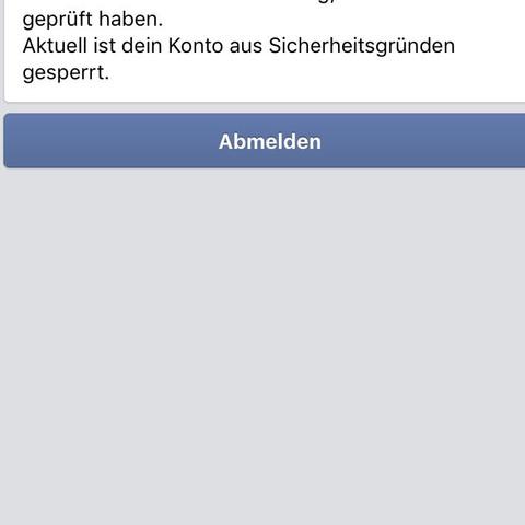 Gesperrt in Facebook  - (Facebook, gesperrt)