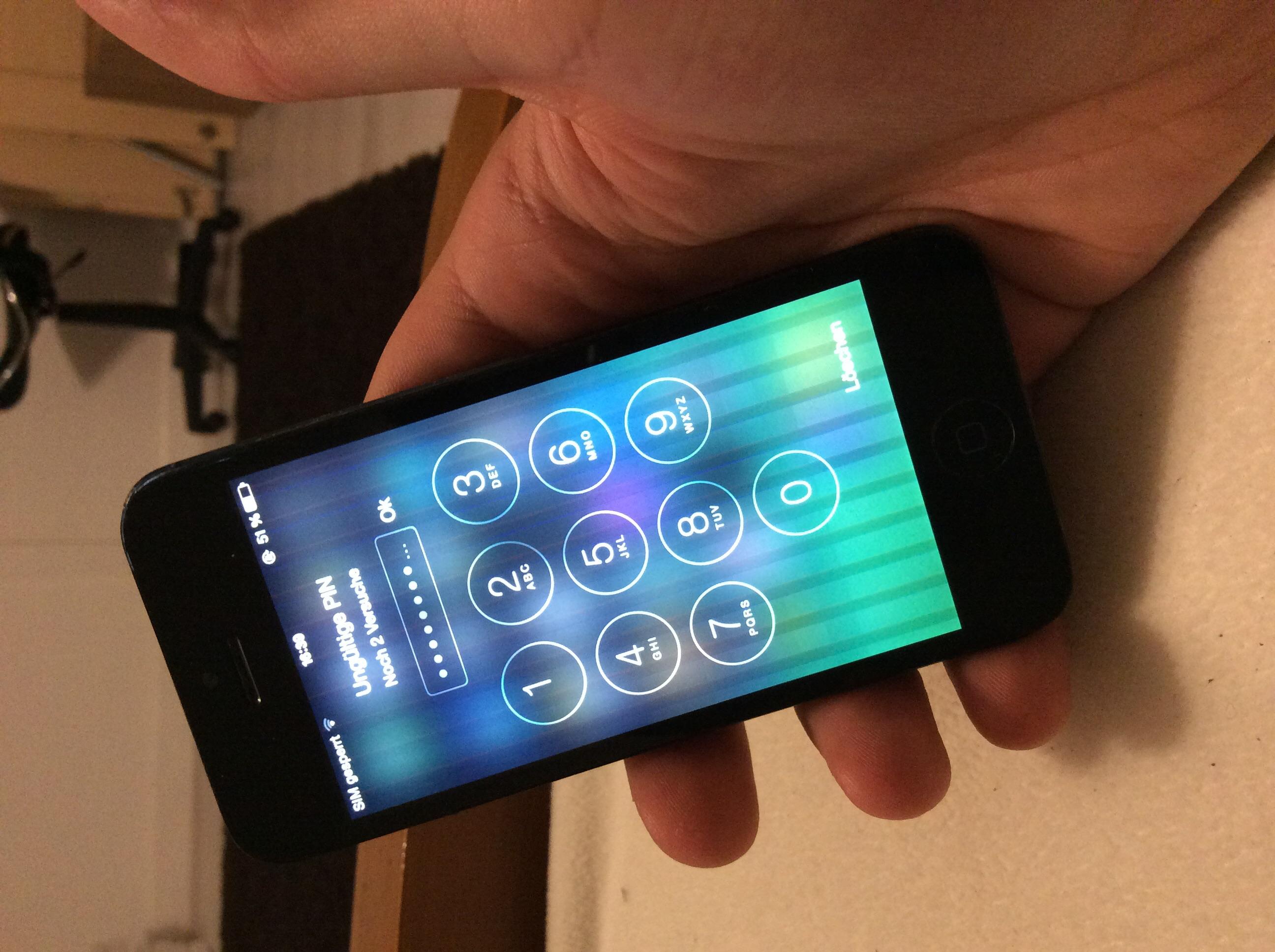 hallo habe ein problem mit meinem iphone 5 siehe bild touch funktioniert immer nur f r 1 min. Black Bedroom Furniture Sets. Home Design Ideas
