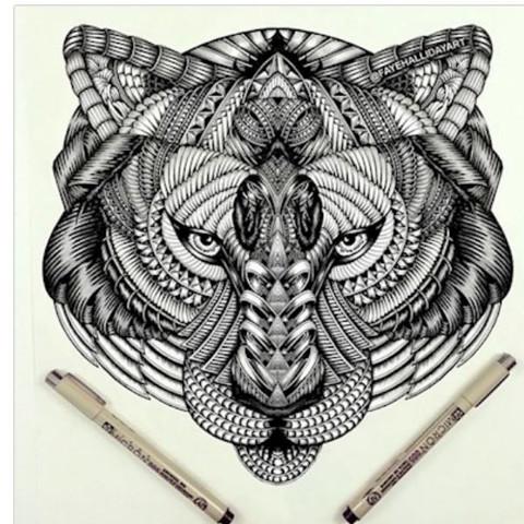 Hier die Zeichnung  - (Kunst, Tattoo, malen)