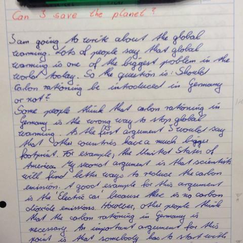 Anfang - (Schule, Englisch, Noten)