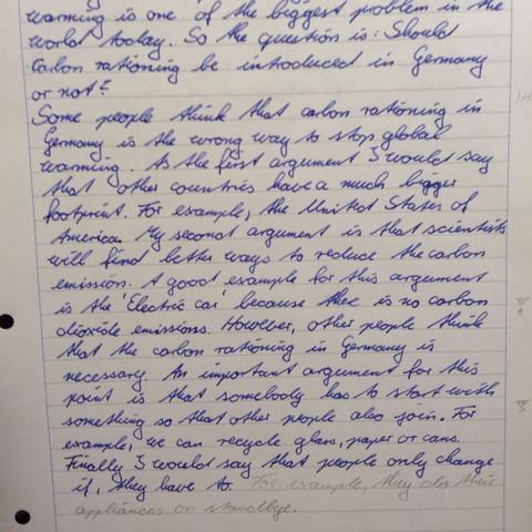 Zweiter Teil des anfangs - (Schule, Englisch, Noten)
