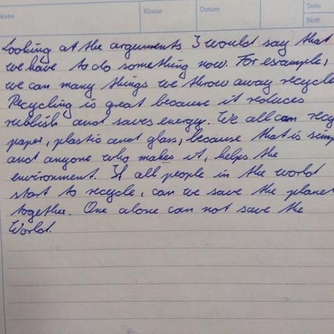 Ende des aufsatzes - (Schule, Englisch, Noten)