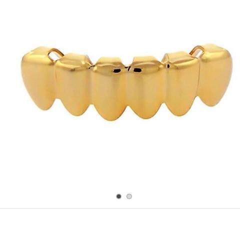 Goldene Zähne Grillz Gold