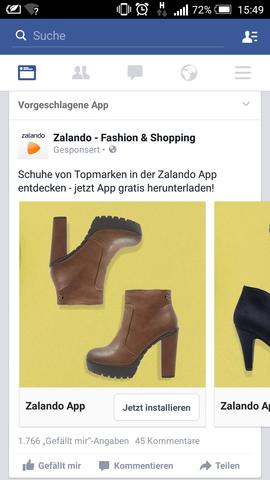 Hallo Ich Habe Bei Einer Zalando Werbung Schuhe Gesehen Konnte Sie