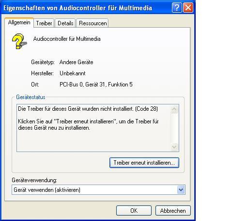 Audiocontroller Allgemein - (Windows, Treiber, IBM)