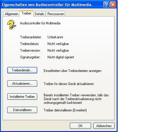 Audiocontroller Treiber(keiner) - (Windows, Treiber, IBM)