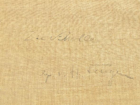 Signatur hinten - (Kunst, Malerei, Gemälde)