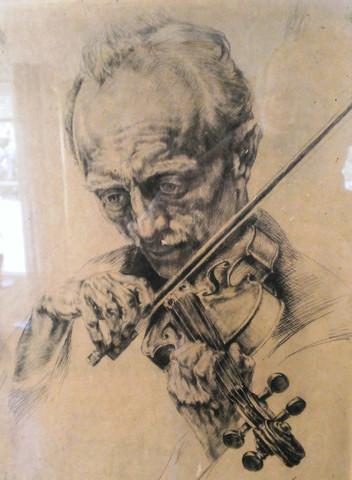 Der Geiger - (Kunst, zeichnen, malen)