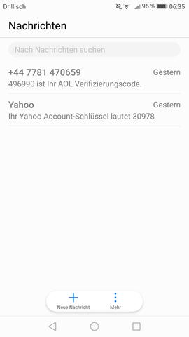 Handy/SMS Eingang - (Handy, SMS, EDV)