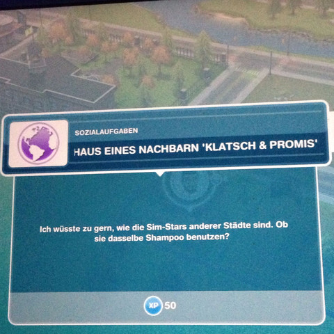 Im Haus eines Nachbarn Klatsch und Promis Lesen  - (Sims Freeplay)
