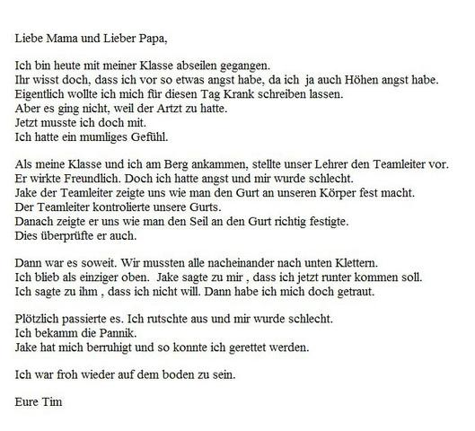 Briefe Schreiben Englisch übersetzen : Hab ich diesen brief auf englisch richtig geschrieben