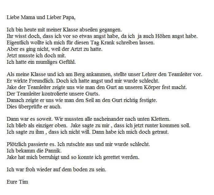 Hab Ich Diesen Brief Auf Englisch Richtig Geschrieben