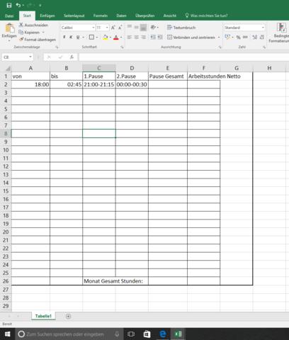 Excel - (Excel, Zeitenberechnung)