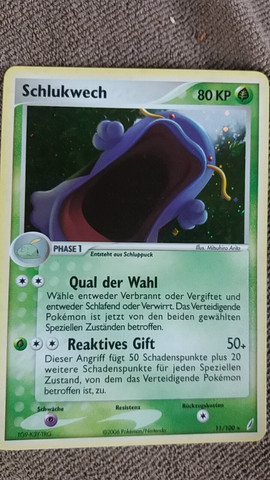 Schluckwech Phase 1, Holo, aus dem Jahr 2006 11/100 Stern - (Pokemon, sammeln)
