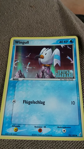 Wingull Basis, Ex Crystal Guardians, Holo, aus dem Jahr 2006 70/100 Kreis - (Pokemon, sammeln)
